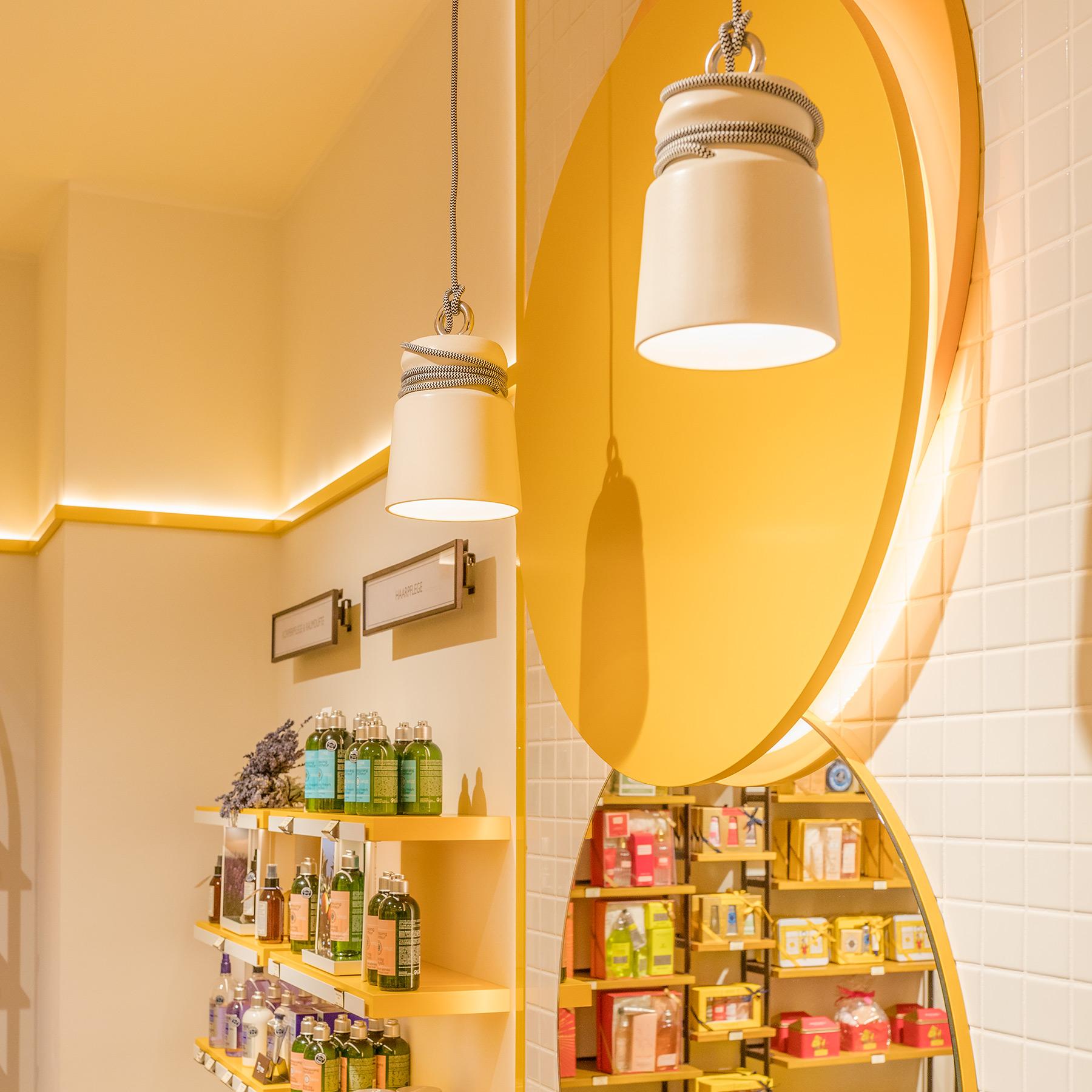 Interior; Shop; Architektur; Kosmetik; L'Occitane; Bielefeld